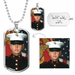 Personalized Picture Dog Tag Necklace Custom Image Photo Gif