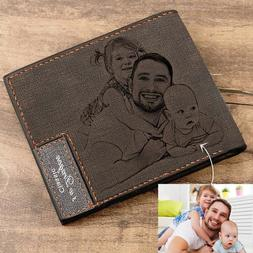 Personalized Wallets for Him Men's Billfold Custom Engrave P