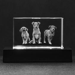 Personalized Your Own Custom 3D Photo Engraved Crystal Lamp