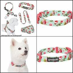 "Pet 8 Patterns Rose Dog Collar Medium Neck 14.5""-20"" Adjusta"