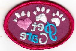 PET CARE Iron On Patch Animals Dogs Cats Pets