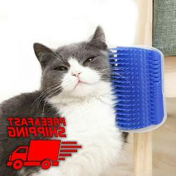 Pet Cat Self Groomer Brush Wall Corner Grooming Cat Massage