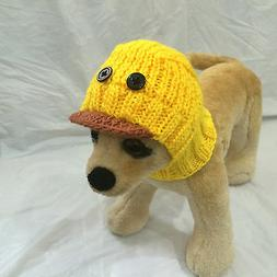 Pet Clothes Apparel Outfit Handmade Knit Hoody Snow Duck Hat