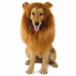 Pet Costume Lion Mane Wig w/ Ears for Large Dog Halloween Cl