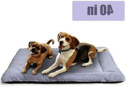 PETSGO Pet Crate Beds Supersoft Dog and Cat Beds for Crates-