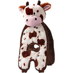 Charming Pet Cuddle Tugs Pet Squeak Toy, Cow