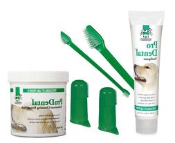 Pet Dental Care Kit Dog Toothbrushes Toothpaste Wipes Oral H