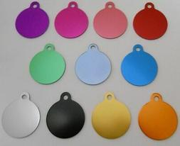 Pet Dog Cat Blank tags Bulk shelters rescues 5 pc lots Large