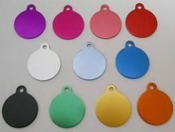 Pet Dog Cat Blank tags Bulk shelters rescues 5 pc lots Med C