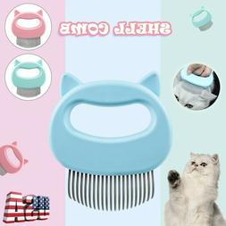 Pet Dog Cat Grooming Comb Shedding Hair Removal Massage Brus