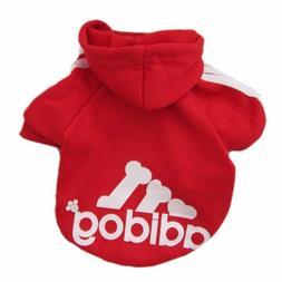 Pet Dog Clothes Soft Cotton Adidog Sweatshirt Sweater Hoodie
