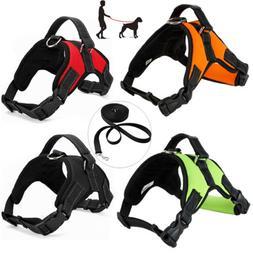 Pet Dog Control Harness Padded Leash Set Walk Collar Safety