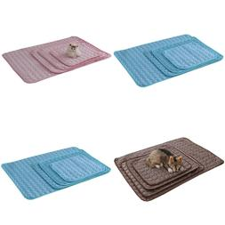 DCP Pet Dog Cooling Mat Ice Silk Self Cooling Pad for Cat,Su