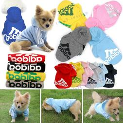 Adidog Pet Dog Hoodies Clothes Puppy Cat Cute Cotton Hooded