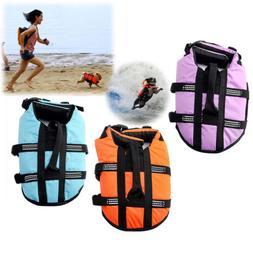 Pet Dog Life Preserver Jacket Swim Surf Safety Floatation Ve