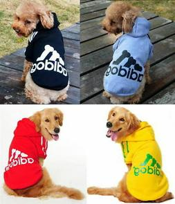 Pet Dog Puppy Adidog Winter Clothes Sweater Coat Hoodie Shir