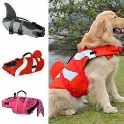 Pet Dog Safety Life Jacket Vest Cat Puppy Surfing Swimming F