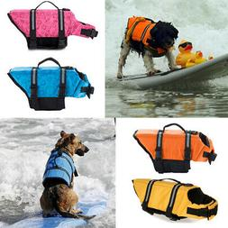 Pet Dog Safety Vest  Life Jacket Puppy Preserver Swimming Su
