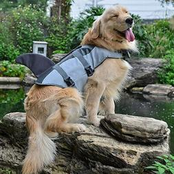 Pet Dog Saver Life Jacket Vest Preserver Reflective Adjustab