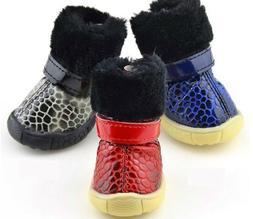 Pet Dog Shoes Snow Winter Waterproof Cotton Super Warm Anti