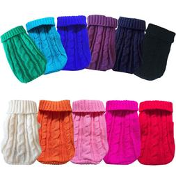 Pet Dog Warm Jumper Knit Sweater Clothes Puppy Cat Knitwear