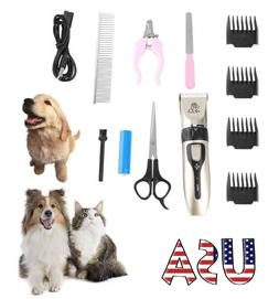 Pet Dogs Shaver Clippers Low Noise Rechargeable Cordless Tri