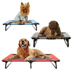 Pet Elevated Cot Dog Bed Hammock Indoor Outdoor Camp Lounger