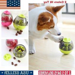 Pet Feeder Dog Cat Food Play Bowl Toys Ball IQ Smart Doggie