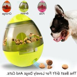 Dog Food Balls Tumbler Pet Puppy Feeder Dispenser Bowl Toy L
