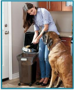 Pet Food Storage Container Large Scoop Dog Cat Airtight Stor