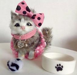 pet grey kitten fits 18 inch doll