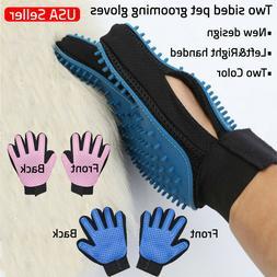 Pet Grooming Gloves Hair Remover Brush Dog Cat Massage Soft