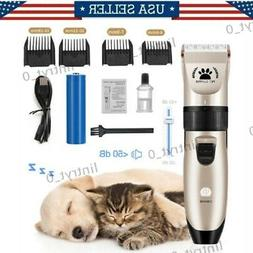 Pet Hair Clippers Low Noise Dog Cat Grooming Clipper Electri