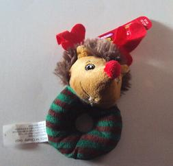Pet Holiday Collection Top Paw Brand Red Nose Reindeer Ring