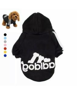 Adidog Pet Hoodie Clothes Black 3XL - 14 Paw Wag NEW small d