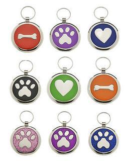 Pet id Tags DOG Discs,  Premium Personalised Engraved Qualit