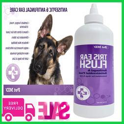 Pet MD Veterinary Tris Flush Cat & Dog Ear Cleaner - Dog Ear