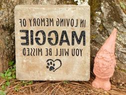Pet memorial personalized cat or dog sandcarved large paver