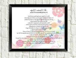 Pet Memorial Poem RAINBOW BRIDGE Personalized Art Print Gift