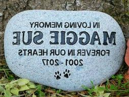 Pet Memorial Stone Cat or Dog Personalized engraved river st