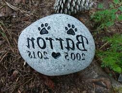 Pet Memorial Stone Dog or Cat personalized engraved river st