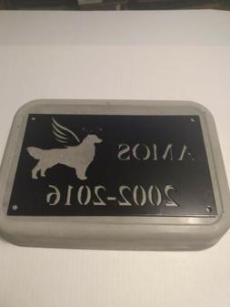 Pet memorial stones personalized