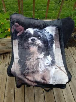 PET MEMORY Personalized VELVETEEN FLEECE Blanket Throw Custo