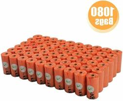 PET N PET 1000 Counts Large Orange Dog Waste Bags Unscented