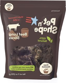 Pet n Shape Beef Lung  Dog Treats  Made and Sourced in the U
