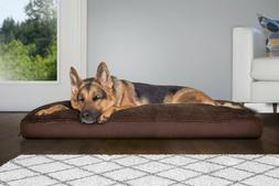 FurHaven Pet NAP Deluxe Terry Suede Pillow Pet Bed for Dogs