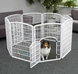 Pet PlayPen Indoor Outdoor Cage Kennel 8 Panels 34 Inches Hi