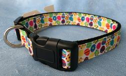 Mirage Pet Products Confetti Easter Eggs Nylon Dog Collar, M