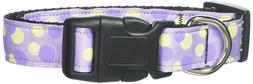 Mirage Pet Products Lavender w/Purple & Yellow Dots Nylon Do