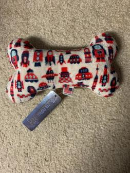 Mirage Pet Products Plush 4th of July American Flag Bone Toy